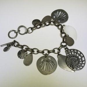 Cookie Lee Silver Ocean Bracelet 114